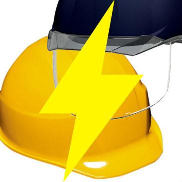 電気工事対応の安全ヘルメットの取り扱い多数あります!