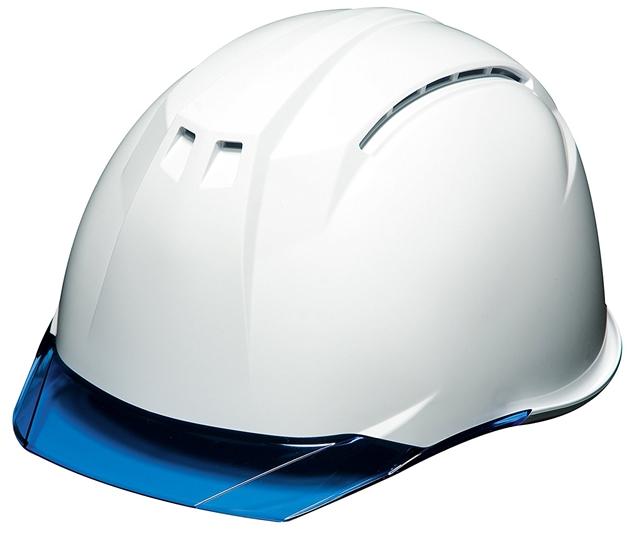 透明ひさし クリアバイザー 安全ヘルメット DIC AA11-CW03白ブルー