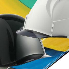 ヘルメット 工事用 作業用 安全 保護帽 透明ひさし クリアバイザー 視界 広いカテゴリー