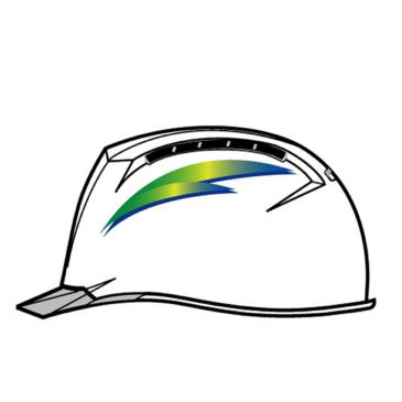 【デザインステッカー編】作業用ヘルメットの名入れ印刷加工