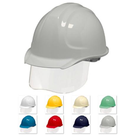 ヘルメット 工事用 作業用 建設用 建築用 現場用 高所用 安全 保護帽 電気工事用 コンパクト 小さめ シールド面 フェイスシールド DIC SYA-SKP
