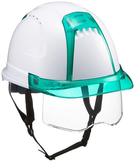 安全ヘルメット シールド面付き 透明バイザー トーヨーセフティー No.391F-S-C