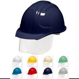 ヘルメット 工事用 作業用 建設用 建築用 現場用 高所用 安全 保護帽 コンパクト 小さめ シールド面 フェイスシールド DIC SYA-SVKP