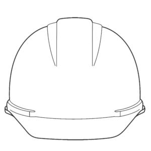 名入れ加工,作業ヘルメット,正面
