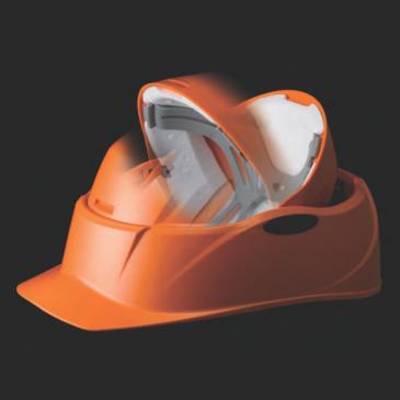 A4サイズ!コンパクトな回転式防災ヘルメット
