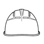名入れ加工,作業ヘルメット,後面