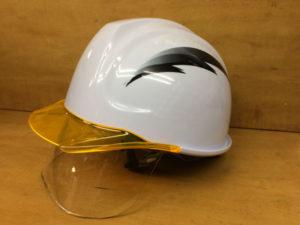 ヘルメット 作業用 工事用 安全 保護帽 ステッカー デザイン 名入れ 加工 印刷 プリント