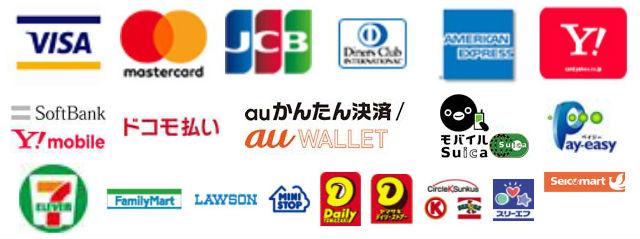 【ご注文の流れ】決済方法について【クレジットカード・各種モバイル・コンビニ・銀行】