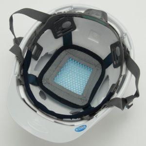 遮熱 熱中症対策 ヘルメット 安全 工事用 作業用 建設用 建築用 保護帽 電気工事対応 スミハット 住友ベークライト SAXC-B-NCOOL