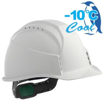 【新商品】-10℃! Nクール遮熱練込み安全ヘルメット(通気孔付き)【熱中症対策】