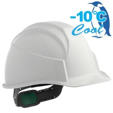 【新商品】-10℃! Nクール遮熱練込み安全ヘルメット(通気孔付なし)【熱中症対策】