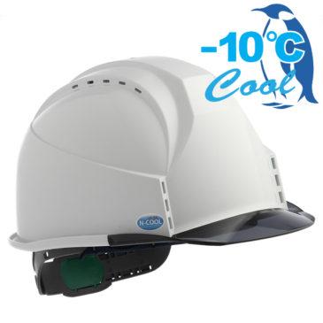 【新商品】-10℃! Nクール遮熱練込み透明ひさし付き安全ヘルメット【熱中症対策】