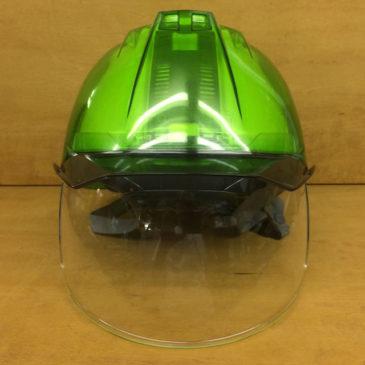 【新商品】DIC『AP11-CS』ワイドシールド面付きスケルトンヘルメット【PC樹脂】