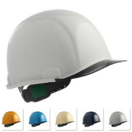 ヘルメット 作業用 安全 工事用 保護帽 透明ひさし クリアバイザー 電気工事対応 住ベテクノプラスチック(スミハット) SAX2-A