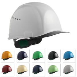 ヘルメット 工事用 作業用 建設用 建築用 現場用 高所用 安全 保護帽 透明ひさし クリアバイザー メッシュハンモック 超薄型エアーシート 通気孔付き 住ベテクノプラスチック スミハット SAX2C-A