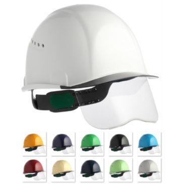 【新商品】住ベ『SAX2CS-A』シールド面付き安全ヘルメット(通気孔付き)【超薄型エアシート】
