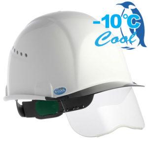 熱中症対策 遮熱ヘルメット シールド付き 住ベ SAX2CS-A-NCOOL