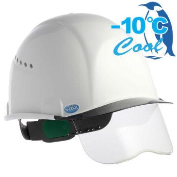 【新商品】-10℃! Nクール新作『SAX2シリーズ』シールド面付き遮熱ヘルメット(通気孔付き)【熱中症対策】