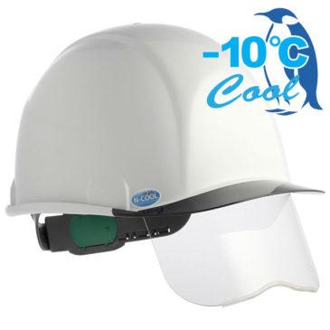 【新商品】-10℃! Nクール新作『SAX2シリーズ』シールド面付き遮熱ヘルメット(電気用対応)【熱中症対策】