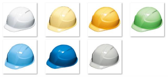 【カラーギャラリー】業界最軽量ヘルメット「軽神」(通気孔付き/一体成型ライナー)【DIC AA17-V】