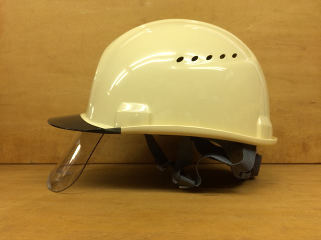 安全ヘルメット 住べテクノプラスチック SAX2CS-A シールド面付き 作業用ヘルメット