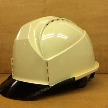 【フォトギャラリー】透明ひさし作業用ヘルメット【住ベ KKC3-B クリーム】