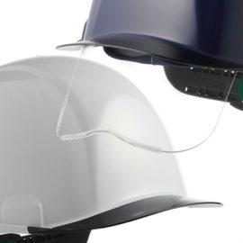 安全ヘルメット 作業用ヘルメット 保護帽 透明ひさし クリアバイザー シールド面 住ベテクノプラスチック SAX2シリーズ カテゴリー2