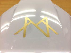 名入れ加工 安全ヘルメット 業界最軽量 超軽量 軽い 軽神 DIC AA17-V フォトギャラリー