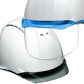 安全ヘルメット 作業用ヘルメット 保護帽 透明ひさし クリアバイザー シールド面 DIC AA11AP11シリーズ カテゴリー