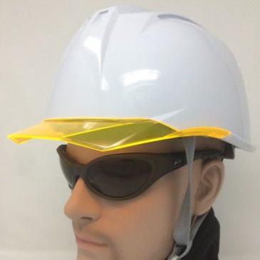 失敗しない工事用ヘルメットの選び方 ~透明ひさし・バイザーの色と特長~