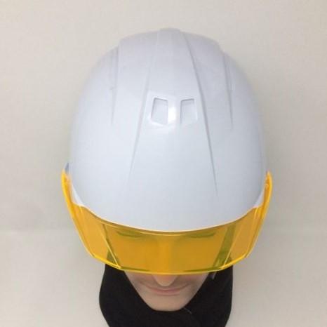 安全ヘルメット 作業用ヘルメット 保護帽 透明ひさし クリアバイザー アンソニーくん