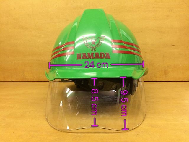 安全ヘルメット 作業用ヘルメット 保護帽 ワイドシールド面 大型シールド面 大型フェイスシールド DIC SYA