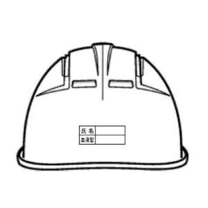 名入れ 印刷加工 社名 名前 ロゴマーク 安全ヘルメット 作業用ヘルメット 保護帽