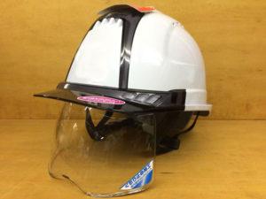 ヘルメット 作業用 安全 工事用 保護帽 雨天対策 シールド面 くもり止め加工