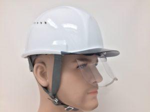 ヘルメット 安全 工事用 作業用 建設用 建築用 保護帽 小さめ コンパクト シールド面 フェイスシールド面 住べテクノプラスチック スミハット SAX2CS-A
