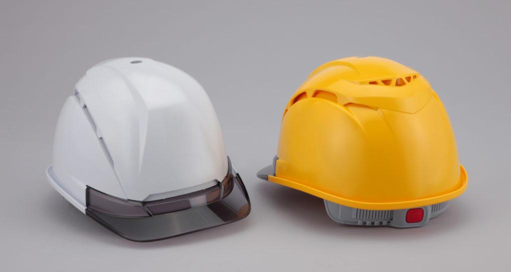 ヘルメット 工事用 作業用 建設用 建築用 現場用 高所用 安全 保護帽 超拡大 通気孔 透明ひさし クリアバイザー トーヨーセフティー No.393F Venti NEO ヴェンティー ネオ